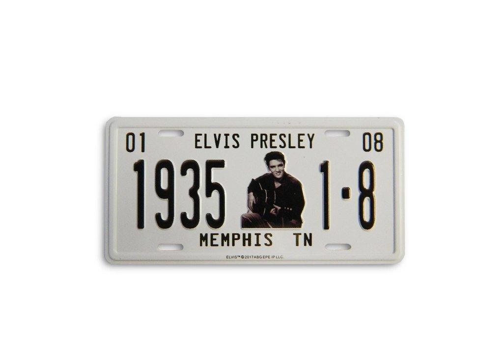 Elvis Magnet License Plate 1935