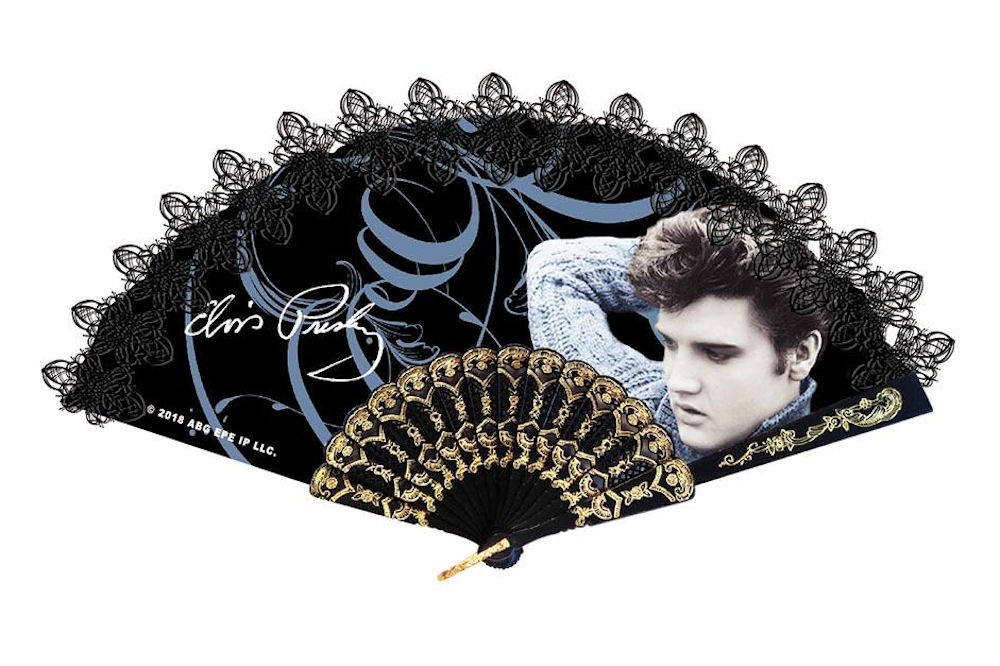 Elvis Hand Fan Blue Sweater