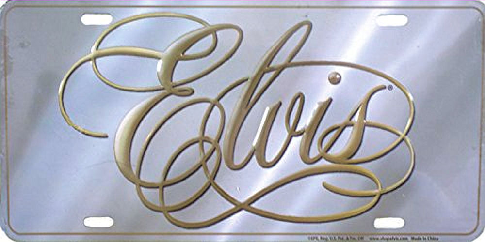 Elvis Decorative License Plate
