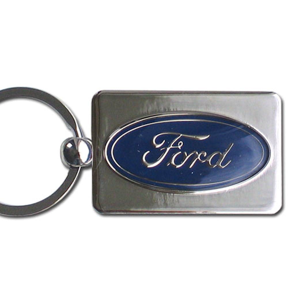 Ford Oval Chrome Key Chain Officially Licensed