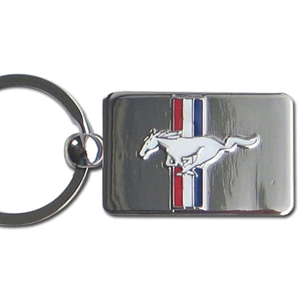 Mustang Chrome Key Chain Officially Licensed