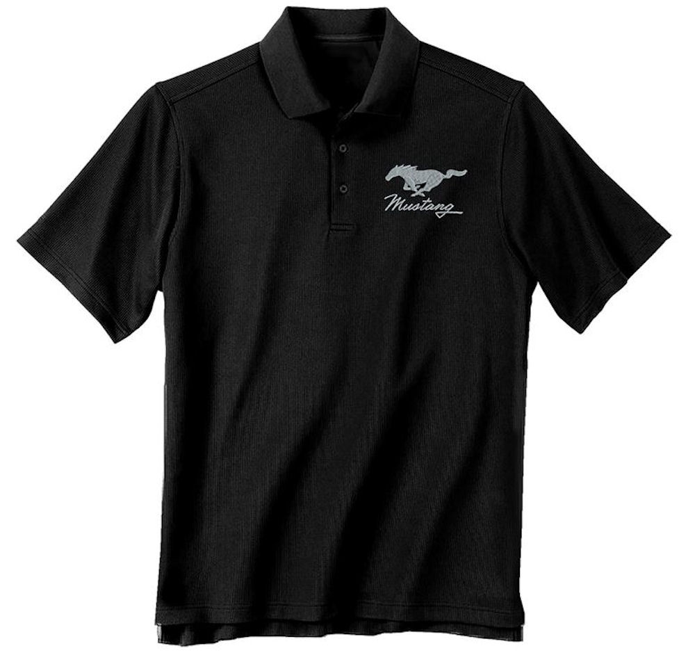 Ford Embroided Mustang Pony Polo T Shirt Officially Licensed Large