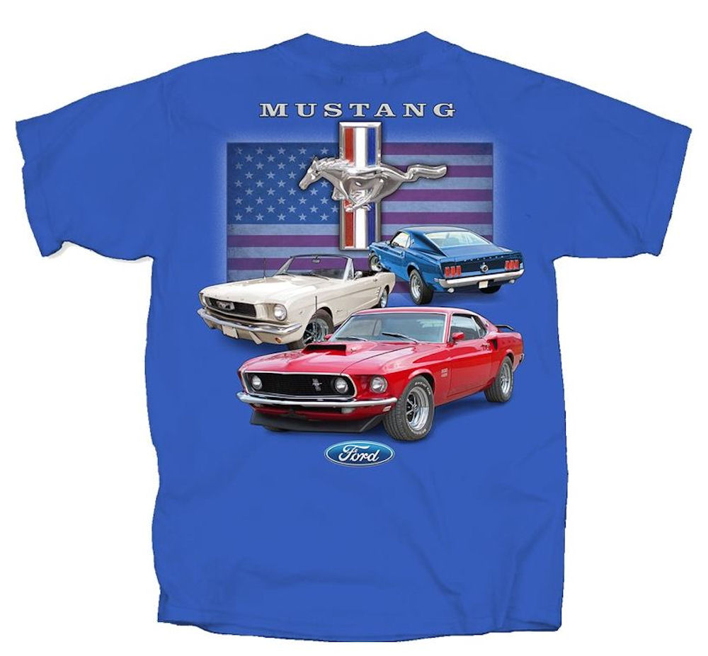 Ford Mustang T. Shirt Royal Blue