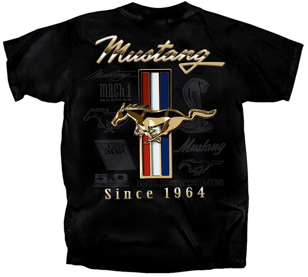 Mustang 1964 Logo Officially Licensed T Shirt Large