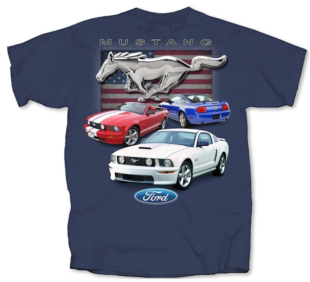 Ford Red White & Blue Mustangs Flag Large