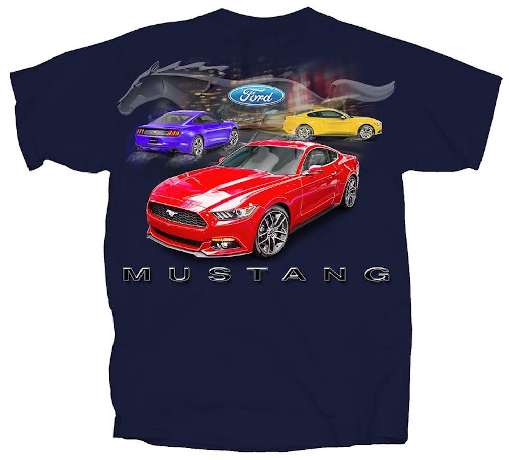 Ford Mustang T. Shirt Navy
