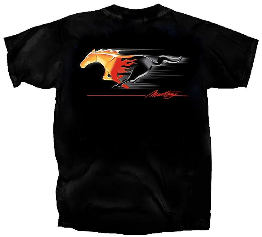 Ford Mustang Tribal Running Pony T Shirt Large