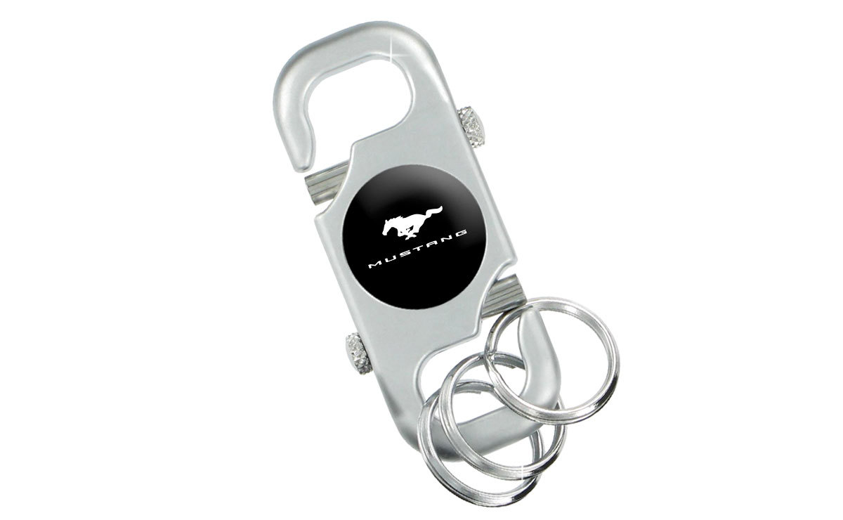 Ford Mustang Chrome Key Ring with Insert