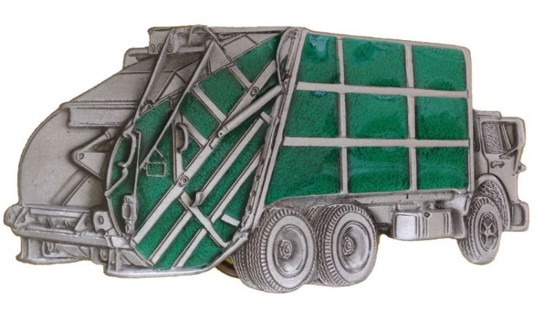Dust Truck Green Belt Buckle