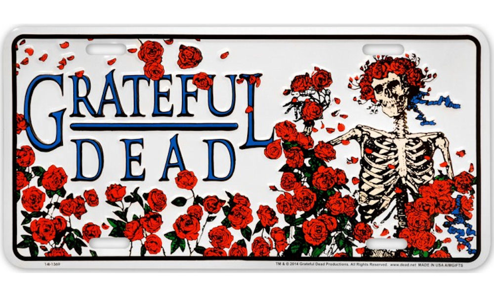 Grateful Dead Metal License Plate