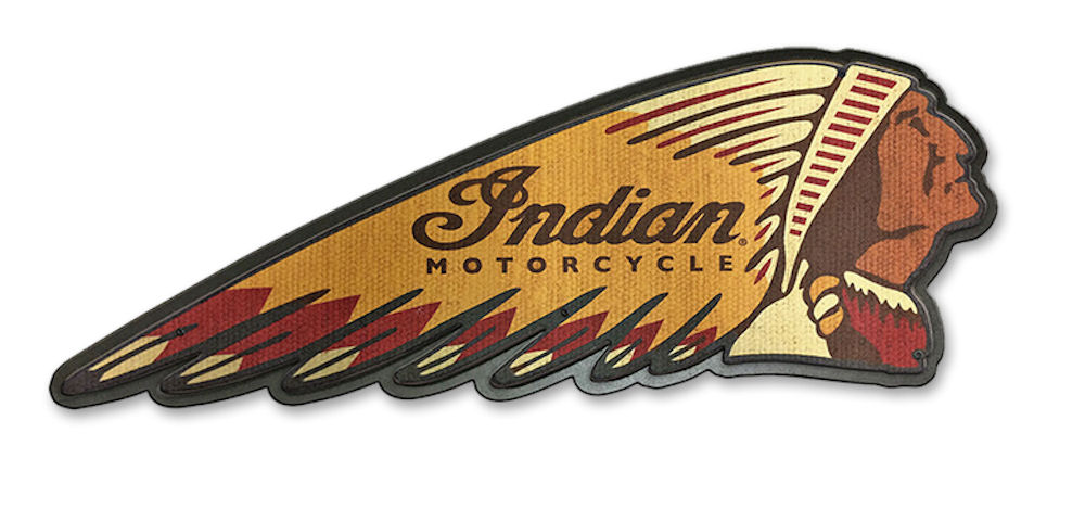 Indian Motorcycles Indian Head Wooden Sign