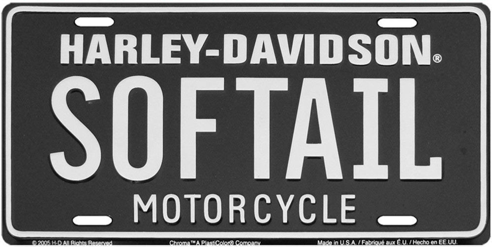 HARLEY-DAVIDSON Softail License Plate