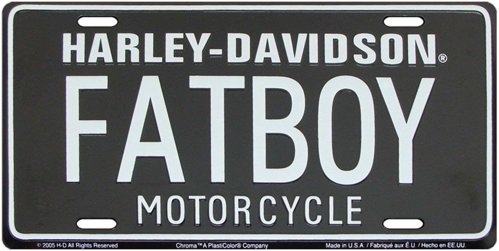 HARLEY-DAVIDSON Fat Boy License Plate
