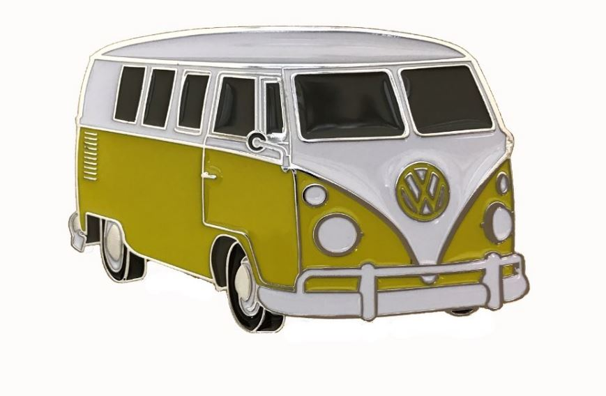 VW Camper Van Yellow Officially Licensed