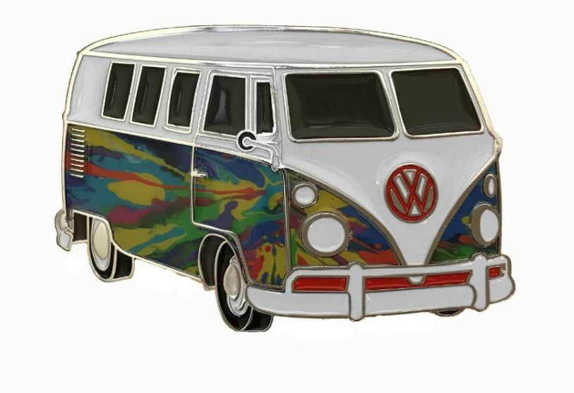 VW Camper Van Psychedelic Flames Officially Licensed