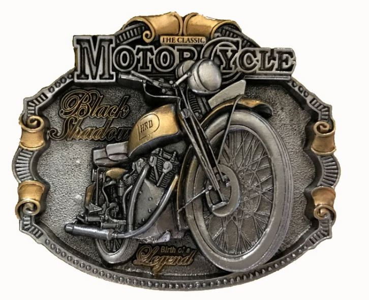 H.R.D Vincent Gold & Silver Plated Belt Buckle