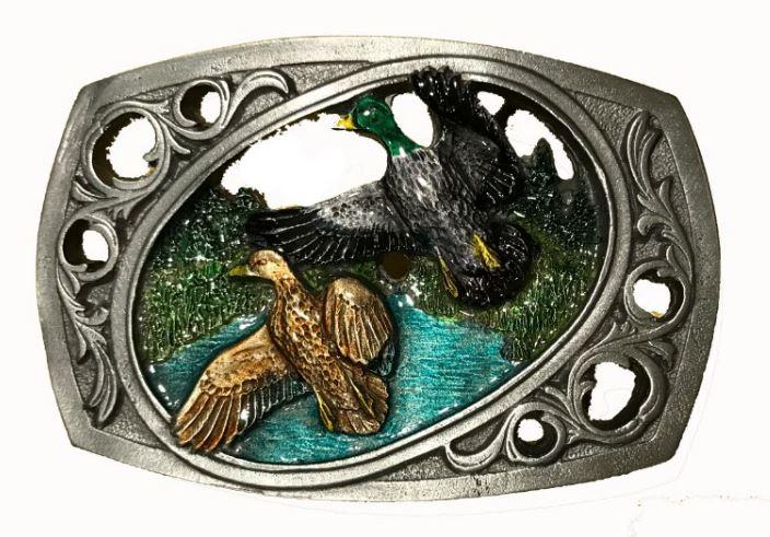 Flying Ducks Cut Out Belt Buckle