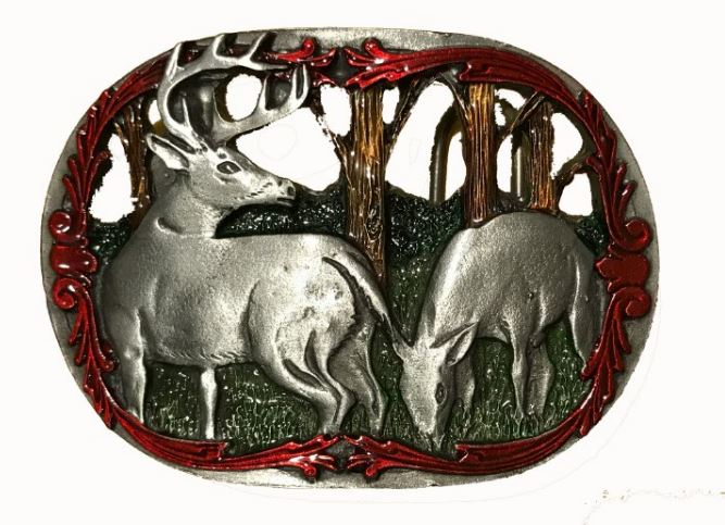 Deer Cut Out Belt Buckle