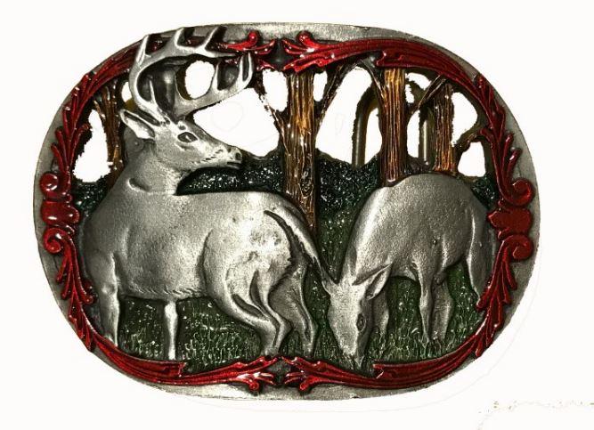Deer Cut Out Belt Buckle