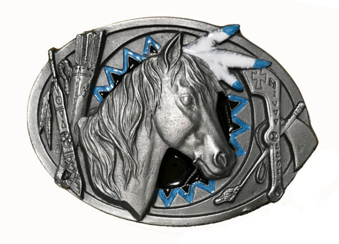 Indian Pony Belt Buckle