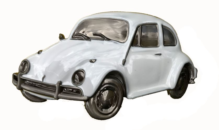 VW Beetle White Boxed Officially Licensed