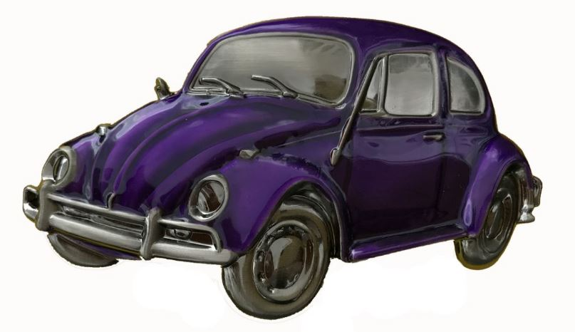VW Beetle Purple Boxed Officially Licensed