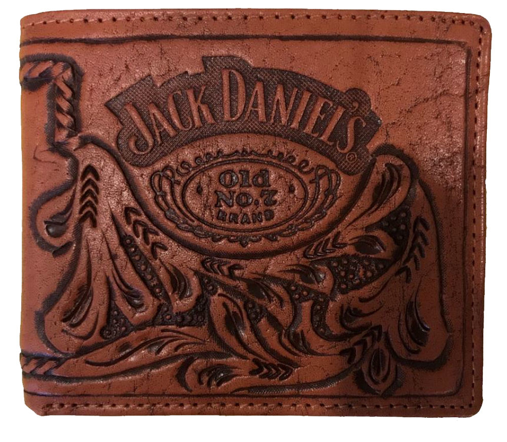 Officially Licensed Jack Daniels Natural Leather Wallet