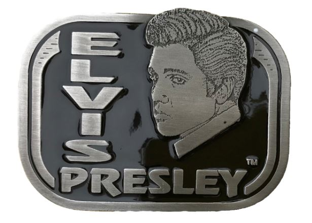 Elvis Face - Black Belt Buckle