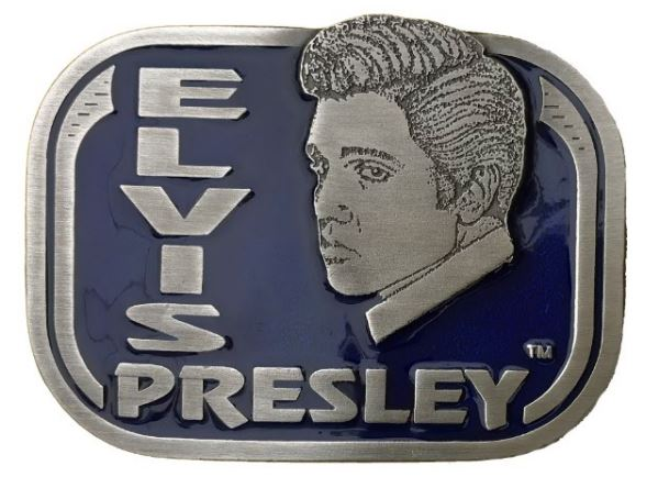 Elvis Face - Blue Belt Buckle