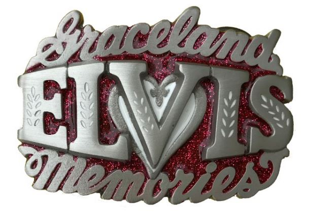 Elvis Memories - Red & Silver Belt Buckle