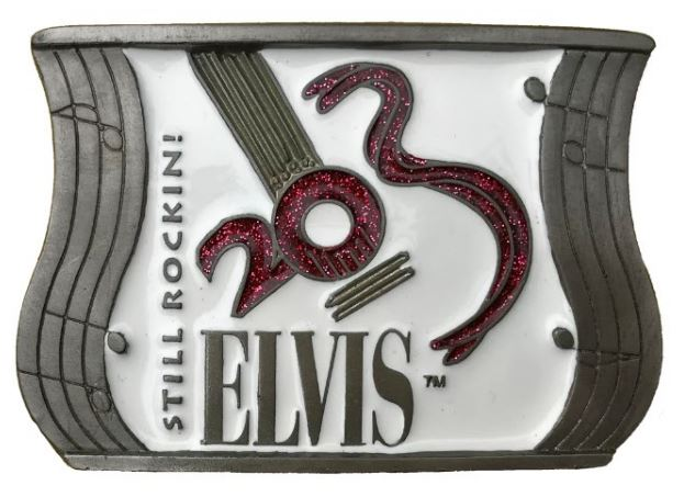 Elvis Still Rocking Guitar