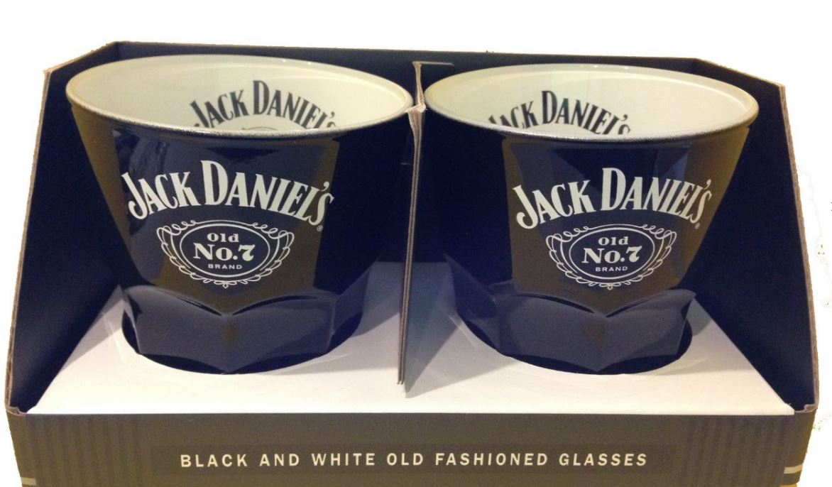 JACK DANIELS SET OF TWO OLD FASHION GLASSES