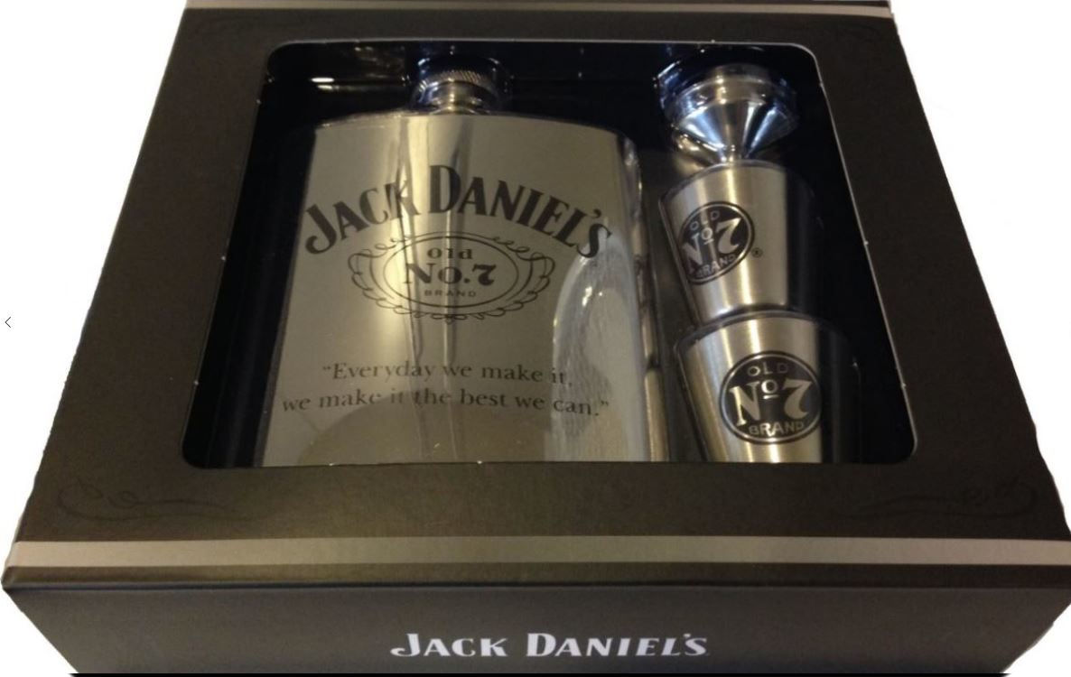 JACK DANIELS FLASK, SHOT AND FUNNEL GIFT SET