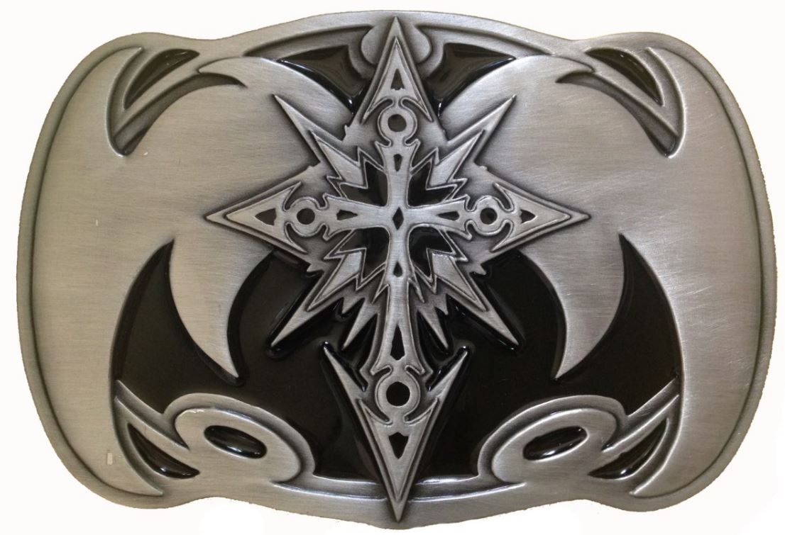 Celtic Cross Rectangle Belt Buckle (Oversized)