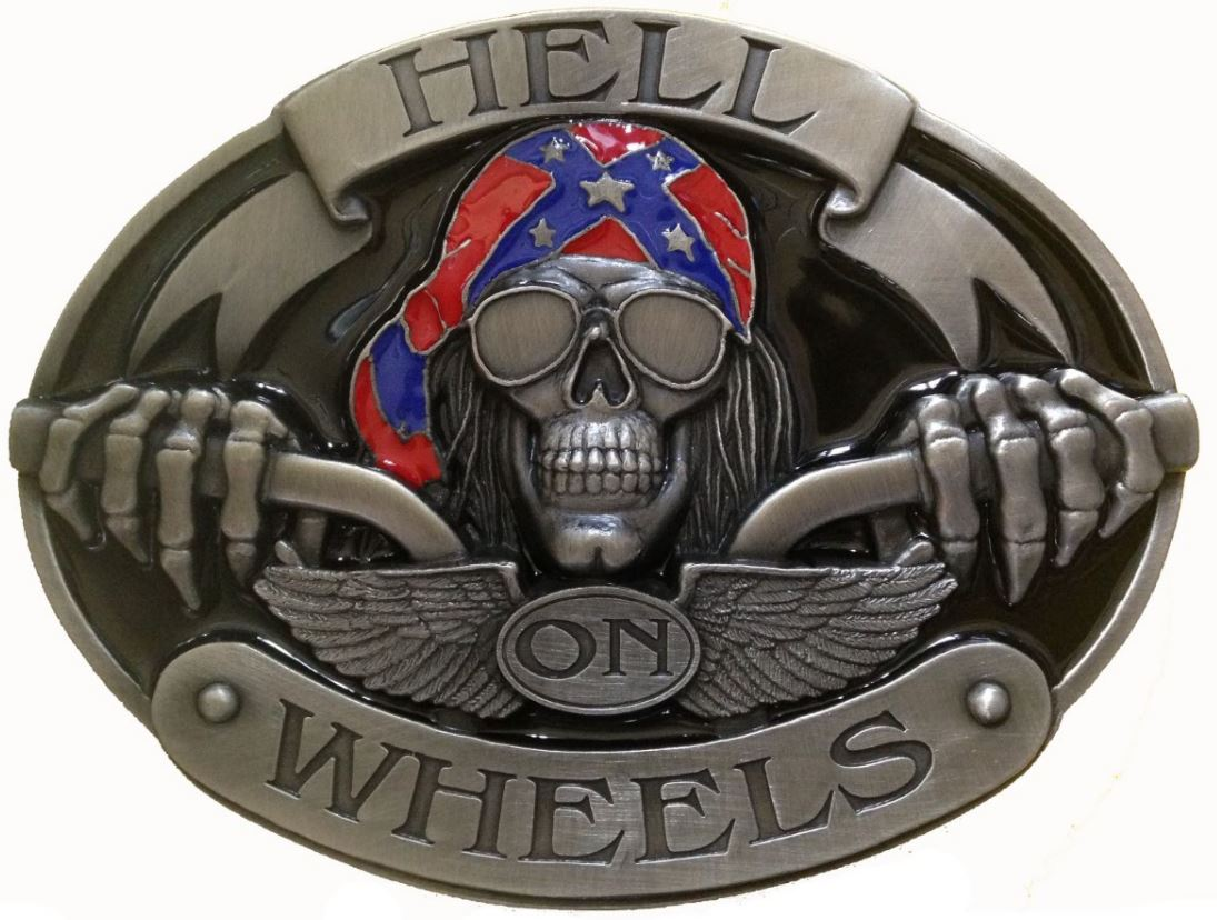 Hell On Wheels (Oversized) Belt Buckle