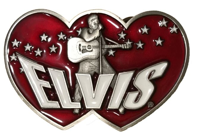 Elvis Double Heart - Dark Red
