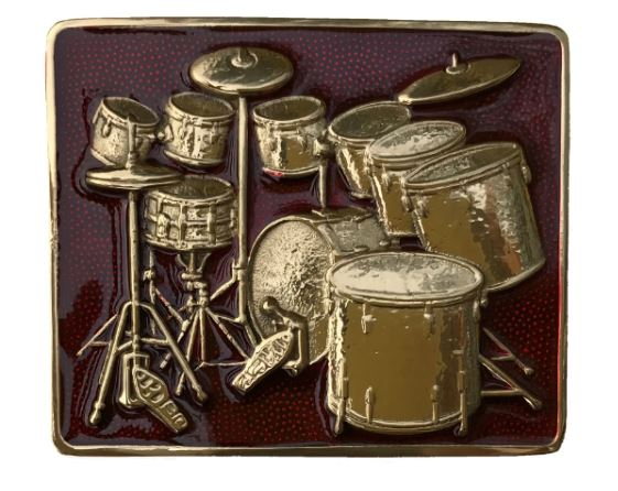 Brass Drum Kit Red
