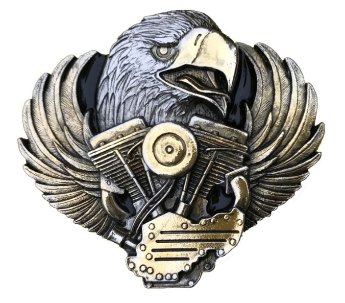 Eagle Head On Engine Gold Colour