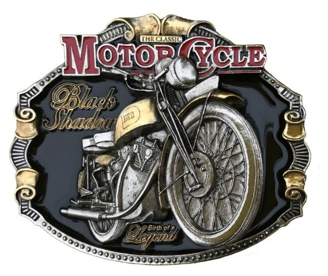 H.R.D Vincent Gold & Silver Plated Full Colour Belt Buckle
