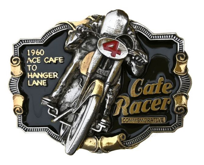 Cafe Racer Commerative Motorcycle Gold & Silver Plated Full Colour