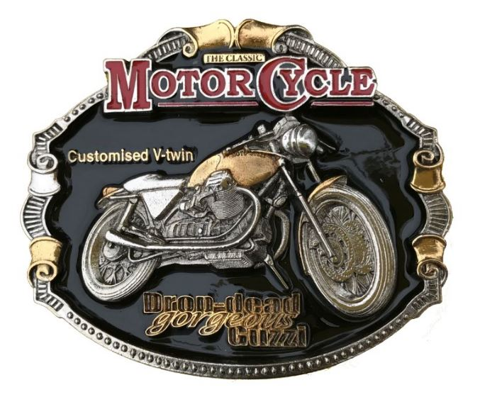 Moto Guzzi Motorcycle Gold & Silver Plated Full Colour