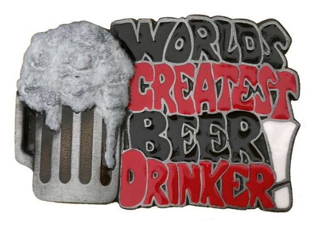 Beer Drinker Belt Buckle