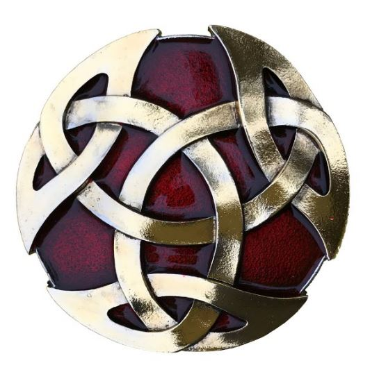 Celtic Knot Gold & Silver Plated Colour