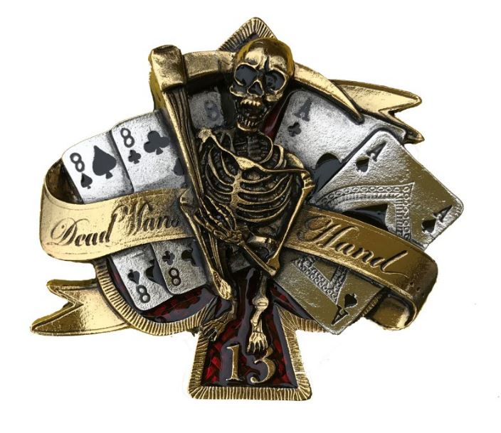 Dead Mans Hand Gold & Silver Plated Colour