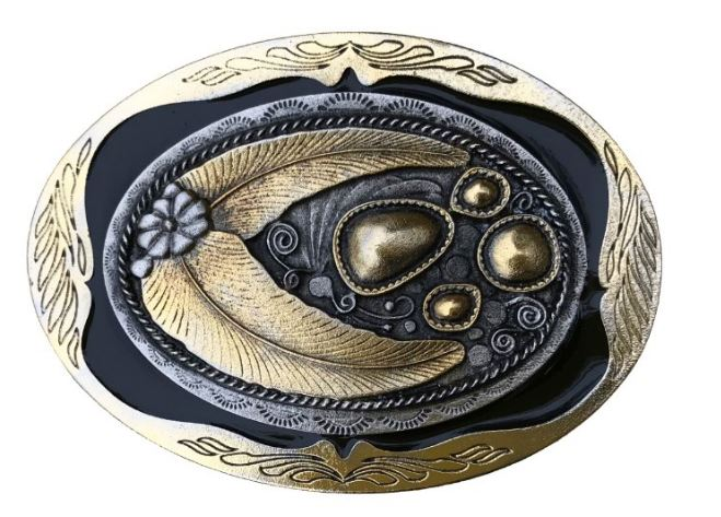 Oval Design Gold Colour