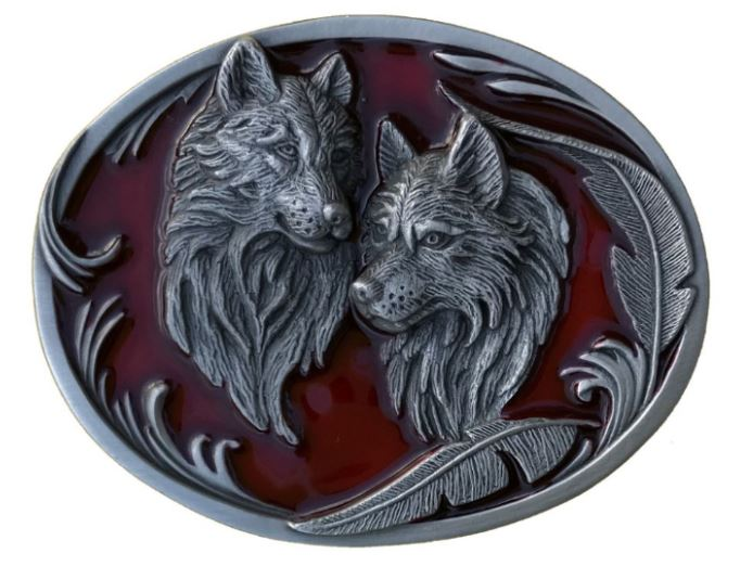 Wolves & Feathers Red