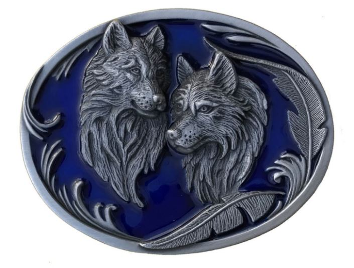 Wolves & Feathers Blue