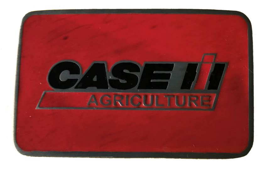 Case Logo Rectangle Red Belt Buckle