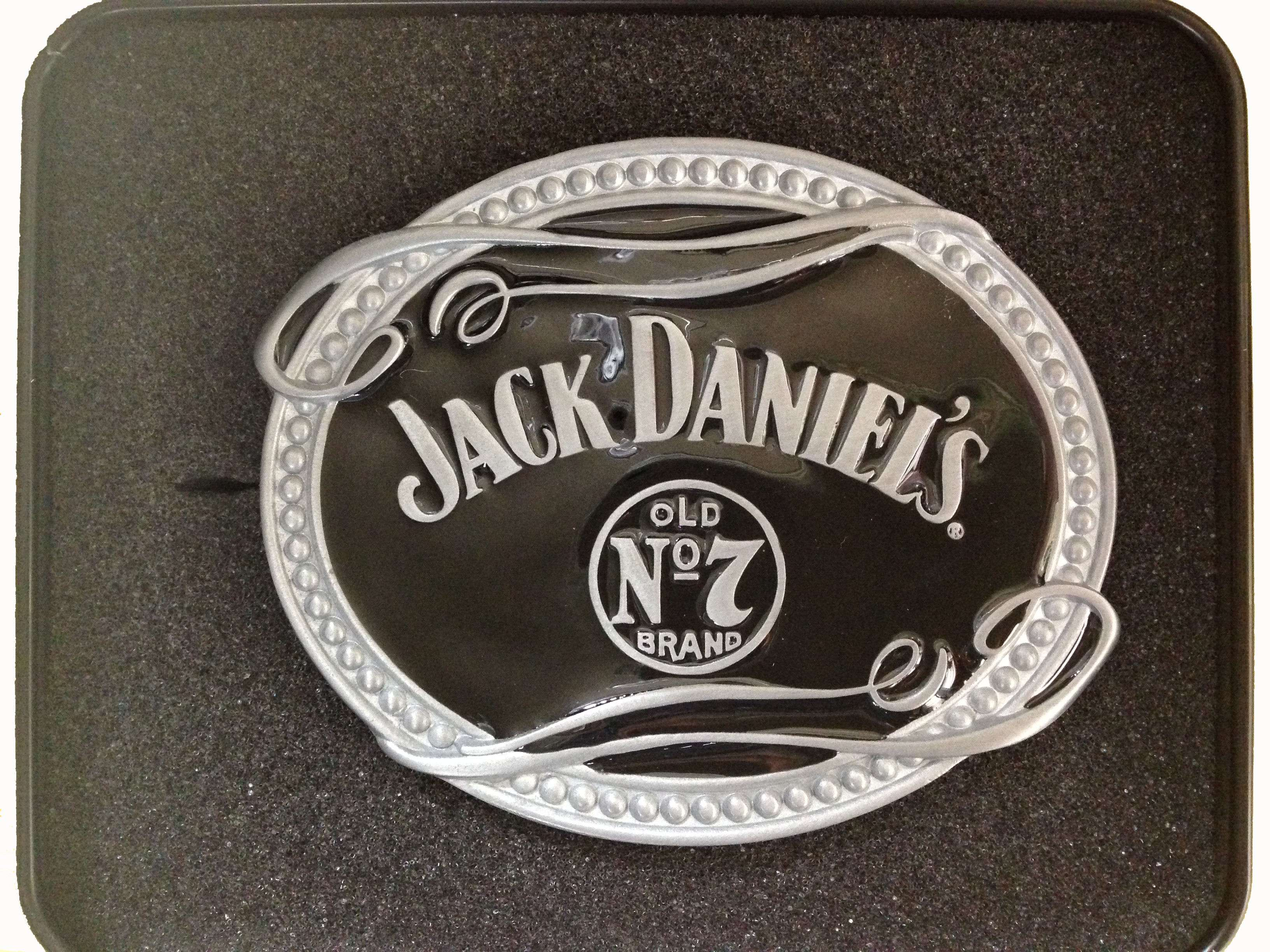 Jack Daniels Oval No. 7 With Tin Belt Buckle