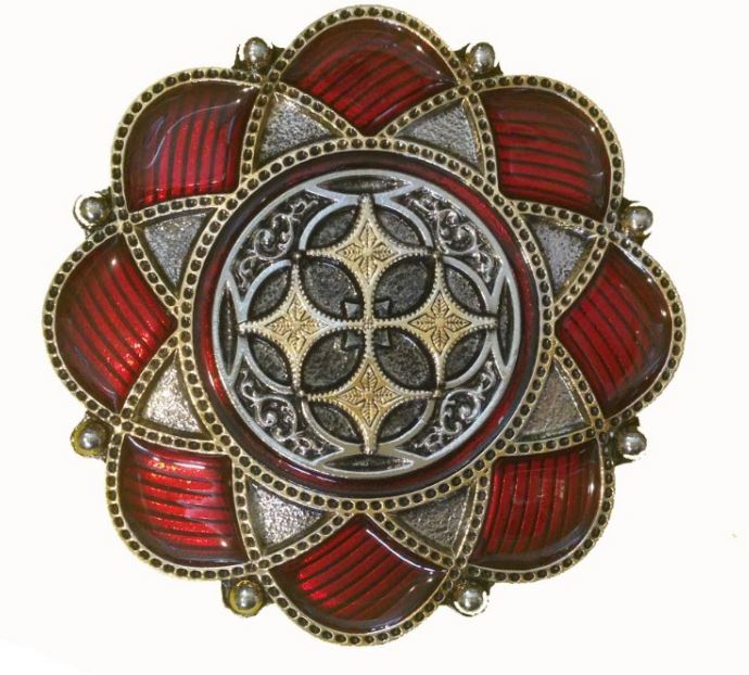 Celtic Flower Gold & Silver Plated Belt Buckle